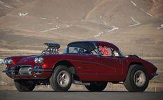 """Big John"" Mazmanian's   Corvette Gasser"