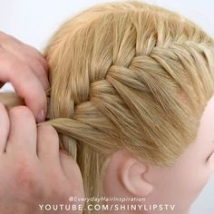 Click here for a full step by step tutorial on Youtube😍 — 🎥Video Credit: @everydayhairinspiration ⭐️FOLLOW @everydayhairinspiration for more!! Braided Hairstyles For Black Women Cornrows, Braided Hairstyles Tutorials, Easy Hairstyles For Long Hair, Cute Hairstyles, Doll Hairstyles, Female Hairstyles, French Braid Tutorials, Wedding Hairstyles, French Braid Hairstyles