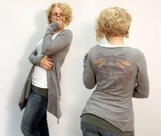 hips, alterations, Easy Drape Cardigan from Two Shirts - Instructables