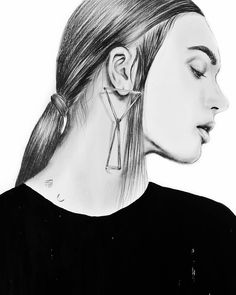 By Tantowi Gilang Pratikto  Details #crop #sketch ⛅❤❤❤ - - - - #illustration #artwork #pencil #drawing #mood #vsco #vscocam #fashionillustration #portrait #ink #blackandwhite #art #fashionsketch #hairstyle