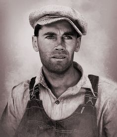 Tom Joad (Henry Fonda) in The Grapes of Wrath. Image from ModernTimes / Palace Classic Films.