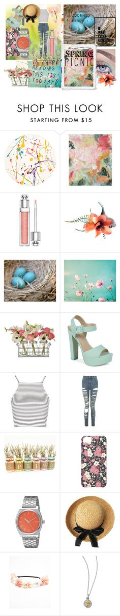"""""""Spring Time!!!"""" by shinee4ever ❤ liked on Polyvore featuring Lisa Perry, Pottery Barn, Christian Dior, Call it SPRING, Topshop, Nixon, Spring, contest and contestentry"""