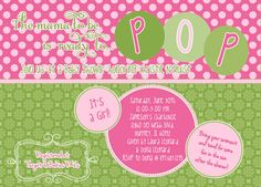 I DO invitations by michelle: New {She's Ready to POP} Baby Shower Invite