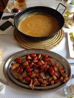 Un almuerzo ideal para un día de lluvia en El Fogón de Enrique.