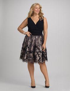 Plus Size | Dresses | A-line Dresses | Plus Size Ruched Surplice Dress