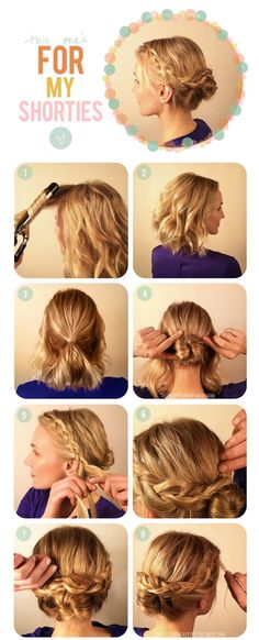 Short Hair Updo Tutorial