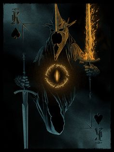 Part of Hero Complex Gallery's Cardistry Card Playing Deck and Art Book. The Witch-King of Angmar by Marko Manev