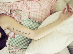 Dunno what's written, but love the placement and the pic! #tattoo #LetteringTattoo #arm