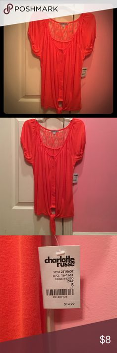 Charlotte Russe -- NWT Brand new, never worn. Still has original tag. Charlotte Russe Tops Button Down Shirts