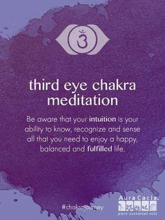 Third Eye chakra meditation.  #AuraCacia #chakrajourney