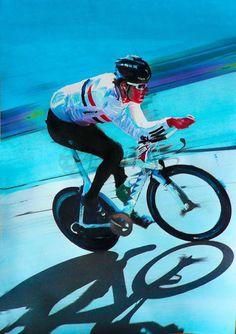 cycling modern art | Bike art - Paul Shipley paintings