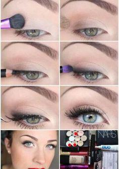 Very natural make-up look Elegant Makeup, Beautiful Eye Makeup, Simple Eye Makeup, Makeup For Green Eyes, Blue Eye Makeup, Natural Makeup, Face Makeup, Amazing Makeup, Eyeliner