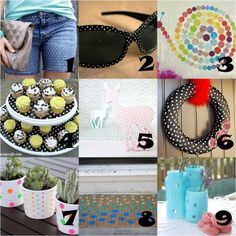 collection of #polkadot crafts