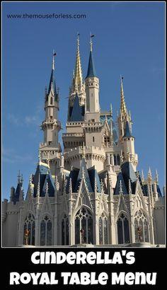 Cinderella's Royal Table Menu at Magic Kingdom #DisneyDining #MagicKingdom