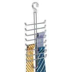 Classico Tru Grasp Vertical Tie/Belt Rack - Chrome