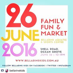Get organised this year! Save the date or contact @bellarinekids to be part of this great event  #Repost @bellarinekids  Oh it's on again! Our @bellarinekids family fun and market event Sunday June 26. Email us if you'd like to take part  #bellarinekidsevent #bkexpo #bellarinekids #bk #market #kidsmarket #familyfun #interactivefun #bellarine #locallymade #bk2016  #aguideto #aguidetooceangrove #aguidetobarwonheads  #oceangrove #barwonheads #bellarine #bellarinepeninsula #gtown #geelong…