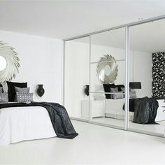 Can't beat all mirror sliding door wardrobes.  Is this your fave?  To view the whole Sliderobes collection & for daily #interiors inspiration click the link in the bio.  #inspo #love #interiors #interiordesign #decor #interior4all #homeinspiration #homeiswheretheheartis #mirror #wardrobe #interior #home #bedroom #storage #sliderobes #trendy #selfies #glasses #instagood