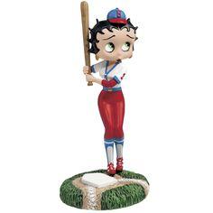 Betty Boop Batter Up Figurine So Fun...Baseball and my Fav cartoon so cute