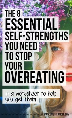 Discover the 8 essential self-strengths you need to have to stop your overeating and how to get them, so you can kick your cravings and eat happy. Weight Loss Plans, Weight Loss Tips, Losing Weight, Young Living, How To Stop Cravings, Over It Quotes, Stop Overeating, Compulsive Overeating, Stress Eating