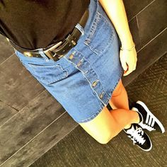 Confession: We've never met a button up denim skirt we didn't like!