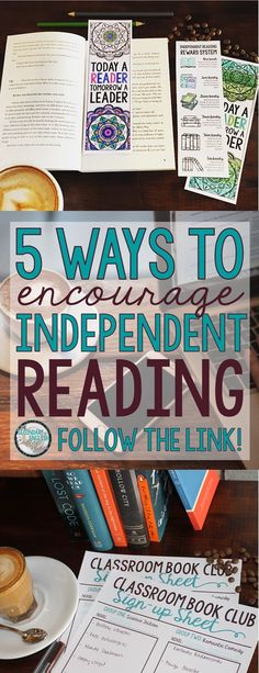 5 Ways to Encourage Independent Reading | The Secondary English Coffee Shop | Grades 7-12 | Free resources
