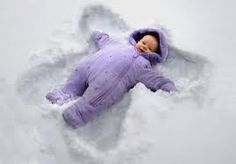 Baby found on side of road,, mother takes credit for teaching how to make snow angels!!! (silver liner)