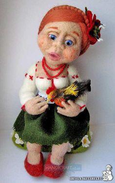 *NEEDLE FELTED ART ~ Валяная кукла, автор Светлана Сиряченко, http://www.livemaster.ru/sirychok