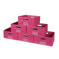 Niche Cubo Set of 6 Half-Size Foldable Fabric Storage Bins