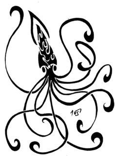 Tribal octopus tattoo design | Tattoos | Pinterest - photo#29