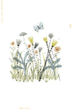 """Meadow"" art print. It is an open edition digital reproduction of an original mixed media illustration. Each print is signed and titled. Printed on a lovely smooth Archival Matte paper using Claria Ph"