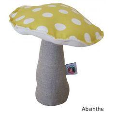 Boîte à musique champignon tissu