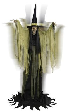 hagatha the towering witch animated halloween prop