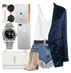 """""""*2027"""" by asoc10 ❤ liked on Polyvore featuring TIBI, B-Low the Belt, Victoria Beckham, Yves Saint Laurent, Rolex, Prada, Gianvito Rossi, Work, tuesday and 08"""