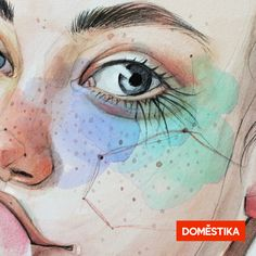 Learn to combine traditional techniques and digital retouching with Photoshop in this Domestika online course. art watercolor Illustrated Portrait in Watercolor Art And Illustration, Watercolor Illustration, Watercolor Paintings, Watercolors, Watercolor Portraits, Watercolor Portrait Tutorial, Watercolor Flowers, Portraits Illustrés, Portrait Art
