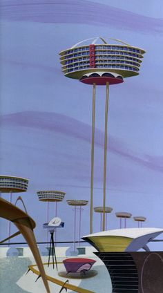 The Skypad Apartments from The Jetsons Yowp: Family of the Future Still Here Today