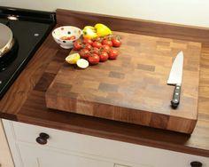 Walnut end grain chopping board