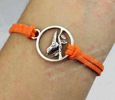 jewelry bracelet cute bird bracelet orange korea by handworld, $1.29