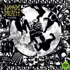 Artist: Napalm Death Album: Utilitarian Song: The Wolf I Feed lyrics: Sweeping the void - like sin Treachery penetrates my skin Serpent shapes in the . Napalm Death, Cool Album Covers, Metal Albums, Best Albums, Death Metal, The Good Old Days, Metal Bands, Hard Rock, 21st Century