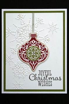 "Card Kit Joyful Christmas Wishes ""Ornament Keepsakes"" Holiday w Stampin Up 