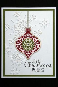 "Card Kit Joyful Christmas Wishes ""Ornament Keepsakes"" Holiday w Stampin Up | eBay"