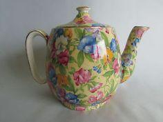 chintz tea pots | Royal-Winton-Grimwades-Sweet-Pea-Chintz-Coffee-Tea-Pot-Made-in-England ...