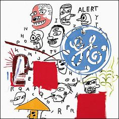 GE, by Andy Warhol and Jean-Michel Basquiat