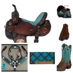 old west turquoise barrel racing tack... my horse needs all of this.. ;)