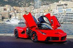 black and red Ferrari LaFerrari - Google-haku