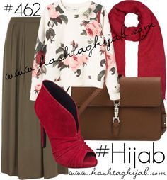 love the blouse and skirt but not really a fan of the shoes and the hijab though.i think the hijab is too short for me