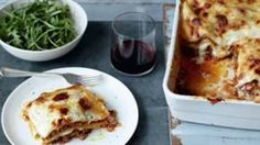 Rachel Allens lasagne is made with minced beef or pork, onion, garlic, celery and leek in a rich tomato sauce layered with pasta and a creamy cheese sauce Chef Recipes, Healthy Recipes, Healthy Food, Rachel Allen, Good Food Channel, Lasagne Recipes, Creamy Cheese, Cheese Sauce, Rice Dishes