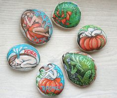 Custom made painted stone with your name home decor by SkadiaArt