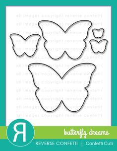Reverse Confetti - BUTTERFLY DREAMS - Confetti Cuts The Butterfly Dreams Confetti Cuts die set is the coordinating die set to the Butterfly Dreams stamp set. Se