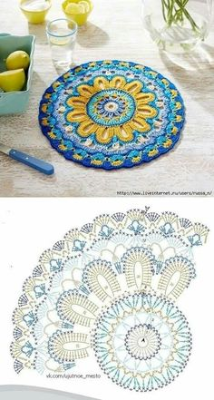 Transcendent Crochet a Solid Granny Square Ideas. Inconceivable Crochet a Solid Granny Square Ideas. Crochet Doily Rug, Crochet Doily Diagram, Crochet Mandala Pattern, Crochet Flower Patterns, Knitting Patterns Free, Free Knitting, Crochet World, Granny Stripe Blanket, Blanket Yarn