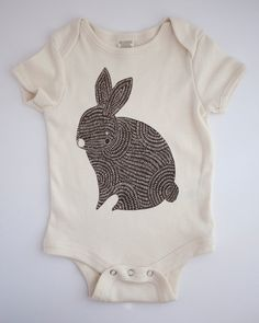 Bunny Onesie  Brown Bunny Organic Baby Onesie by Gingiber on Etsy, $26.00  ***size 18-24 months***